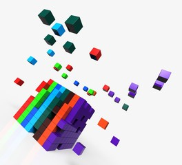 Blocks scattered Shows Action And Solutions