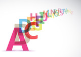 Vector Abstract Colour Alphabet on white background