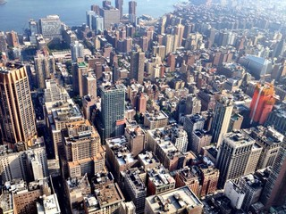 New York aerial view from Empire State Building