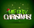 Merry Christmas and Happy New Year inscription.