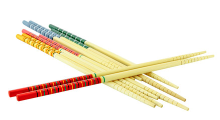 Color chopsticks isolate
