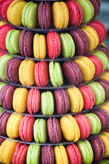 French macaroon cookies with fruit flavors