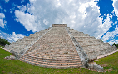 Ancient pyramid in Yucatan