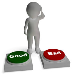 Good Bad Buttons Shows Approve Or Reject