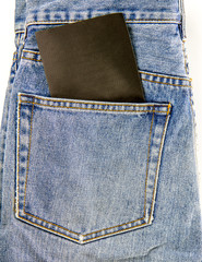 jeans pocket with blank note