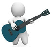 Guitarist Performer Shows Acoustic Guitars Music And Performance