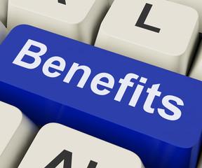 Benefits Key Means Advantage Or Reward.