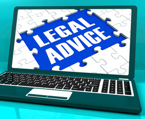 Legal Advice Laptop Shows Criminal Attorney Expert Guidance