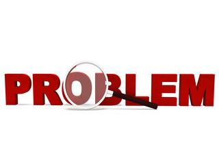 Problem Word Means Difficult Dispute Or Troubles