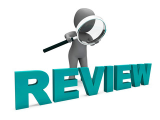 Review Character Shows Assess Reviewing Evaluate And Reviews