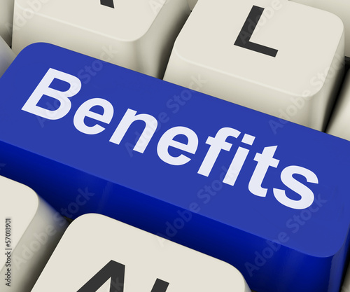 Benefits Key Means Advantage Or Reward.