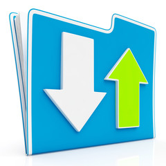 Downloading and Uploading Data Icon.