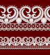 Seamless openwork lace border.