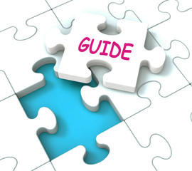 Guide Puzzle Shows Consulting Guidance Guideline And Guiding