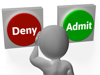 Deny Admit Buttons Show Forbidden Or Enter