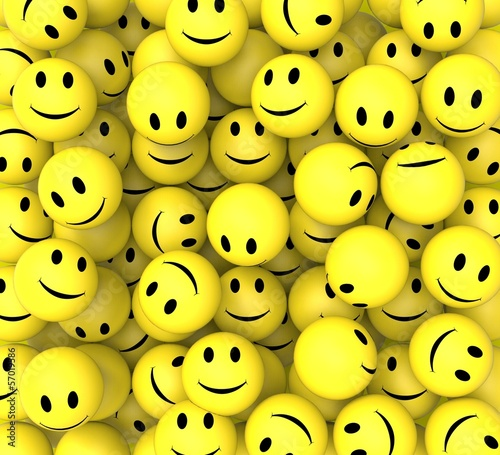 obraz lub plakat Smileys Show Happy Cheerful Faces