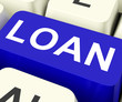 Loan Key Means Lending Or Loaning.