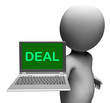 Deal Laptop Shows Agreement Contract Or Dealing Online