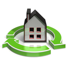 House Icon Shows Home Investing