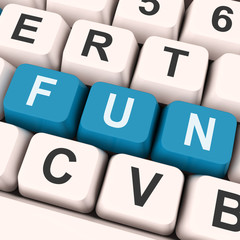 Fun Keys Show Enjoyable Exciting Or Pleasing.