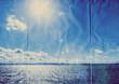blue sky sea paper