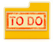 To Do File Shows Organizing And Planning Tasks