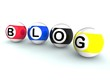 Blogging Word Shows Weblog Blog