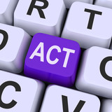 Act key Means Perform Or Acting.