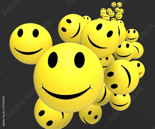 Smileys Showing Happy Positive Faces