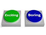 Exiting Boring Buttons Shows Excitement Or Boredom
