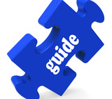 Guide Puzzle Shows Consulting Instructions Guideline And Guiding