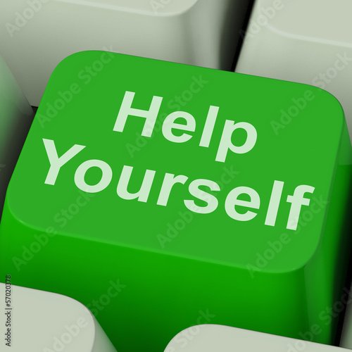 Help Yourself Key Shows Self Improvement Online