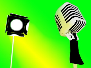 Light And Microphone Shows Concert Entertainment Or Talent
