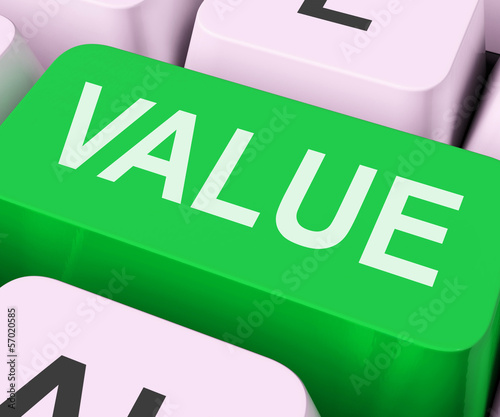 Value Key Shows Importance Or Significance.
