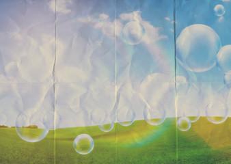 paper bubbles