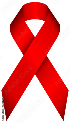 HIV Symbol Red Ribbon