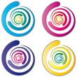 Logo - Wirbel - abstrakt und farbig