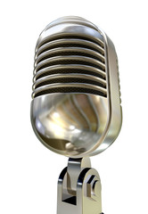 Microphone Vintage Isolated White