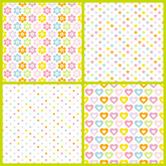 Collection 4 Seamless Pattern Birthday Color