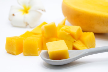 Closeup Sliced Mango