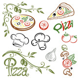 Pizza, kochen, italian food