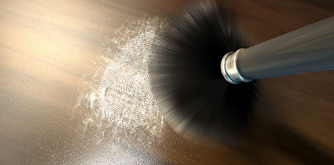 Dusting For Fingerprints On Wood