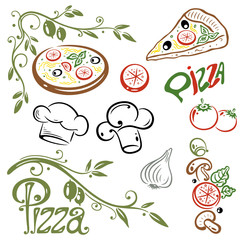 Pizza, kochen, italian food