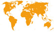 Orange Detailed World Map