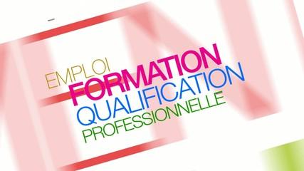 Formation qualification professionnelle nuage de mots animation