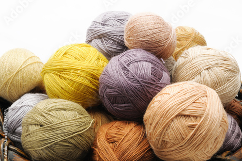 Colorfull wooll yarn balls