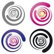 Logo - Wirbel - abstrakt und farbig - Set