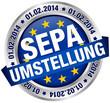 """Button Banner """"SEPA Umstellung"""" Europa"""