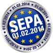 """Button """"SEPA Umstellung"""" Europa"""