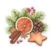 Watercolor Christmas illustration